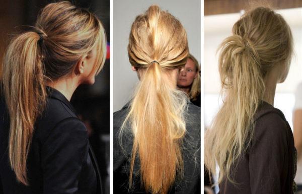 Прическа небрежность на длинных волосах
