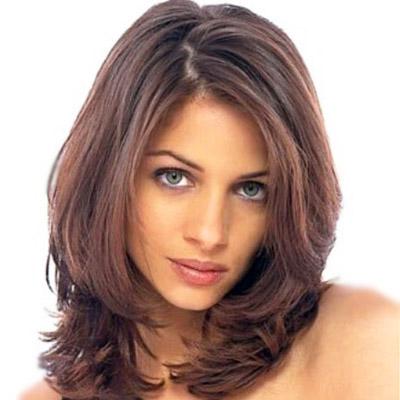 Причёска каскад фото на средние волосы без чёлки