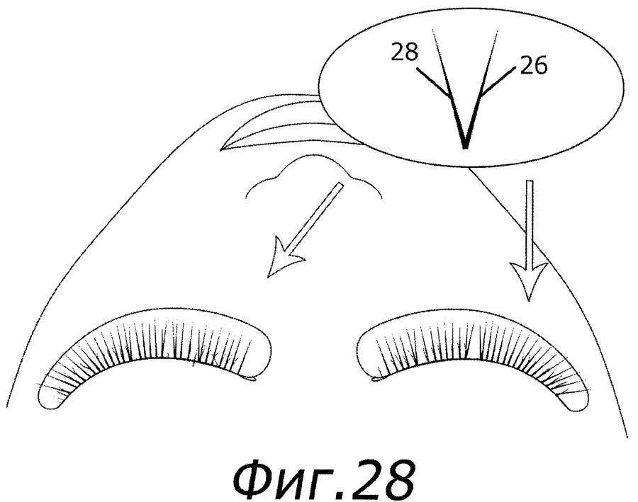 Схема наращивания длин ресницы