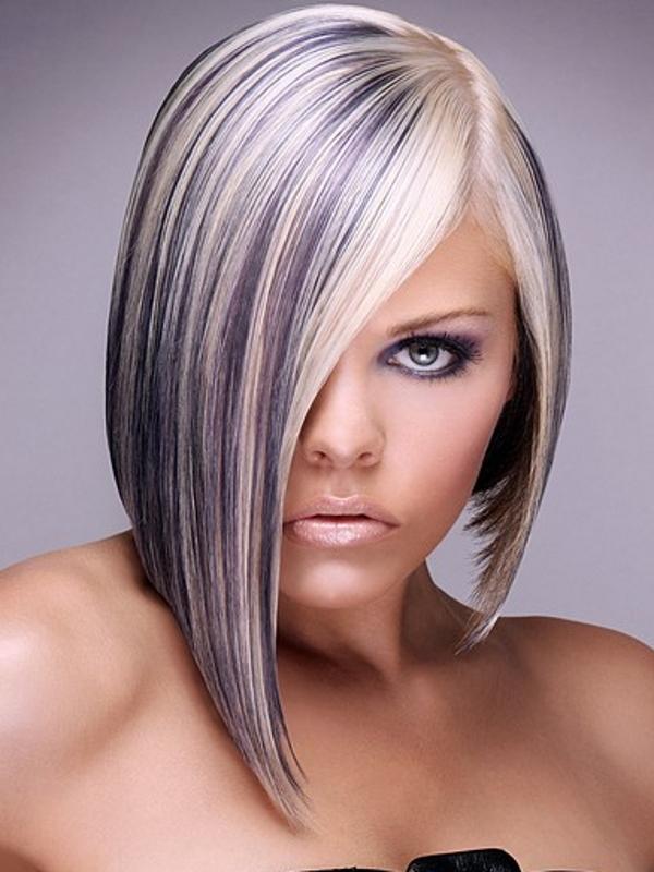 Черно белое мелирование волос