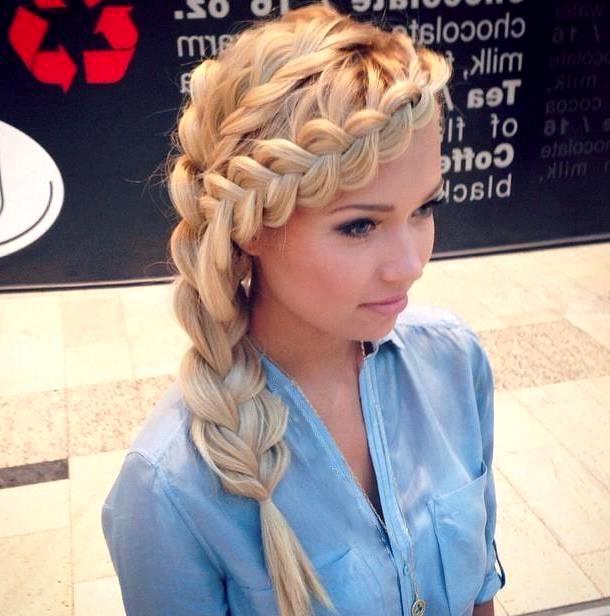 Прически с французской косой на длинные волосы
