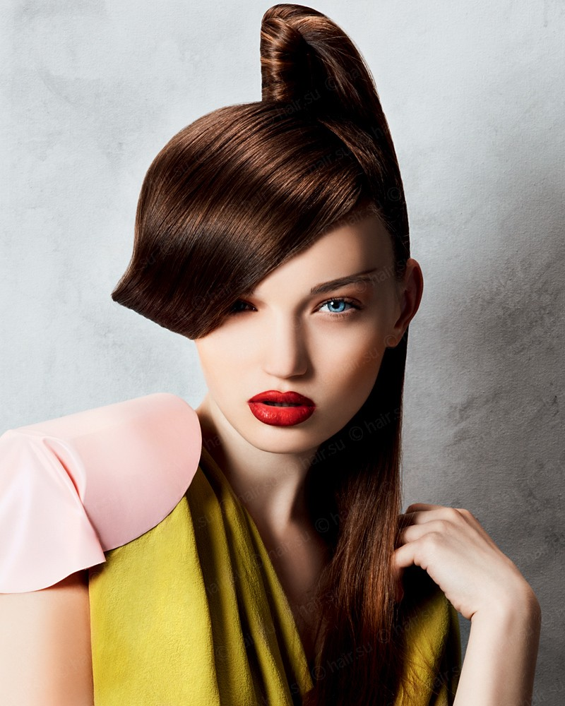 высокие прически для длинных волос стильные и эффектные модели