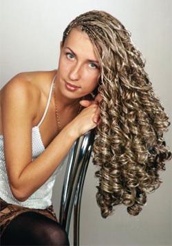 как накрутить волосы на косички