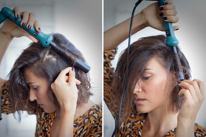 Как сделать локоны при помощи пучка волос