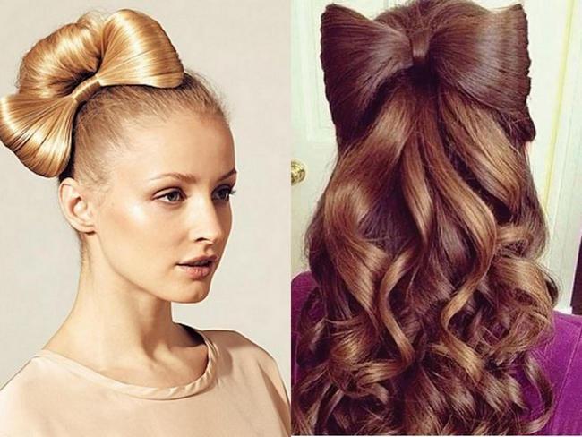 прически для девочек бантик из волос