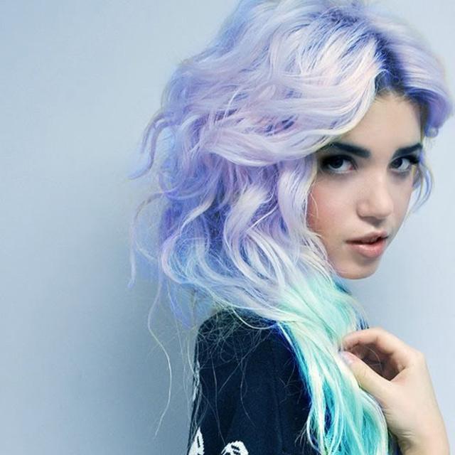 Синий цвет волос как убрать