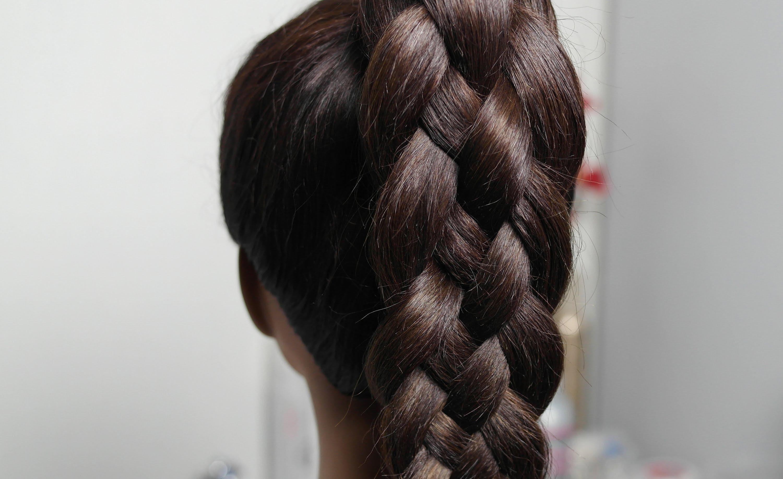 схема плетения косы в 4 пряди