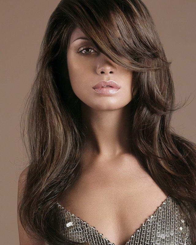 стрижки с челкой фото на длинные волосы