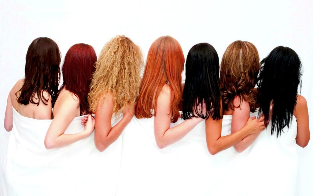 Фото волос с разным цветом
