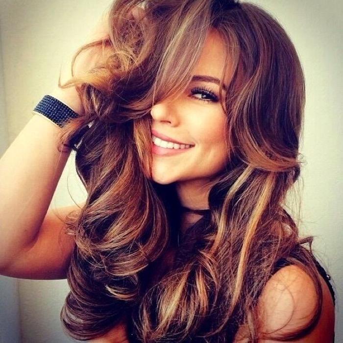 Красивый цвет волос шоколадный