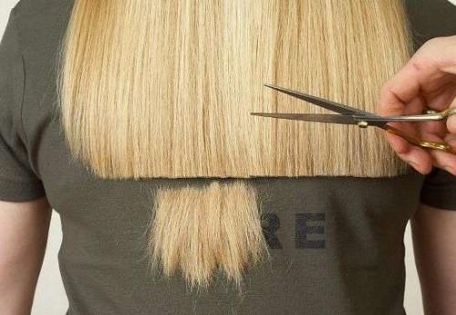 Фото красиво подстриженных концов длинных волос