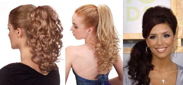 Даже классический «конский хвост» совершенно по-другому смотрится на волнистых волосах.