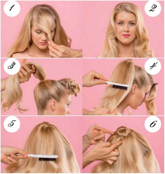 Деление волос и создание основы под валик