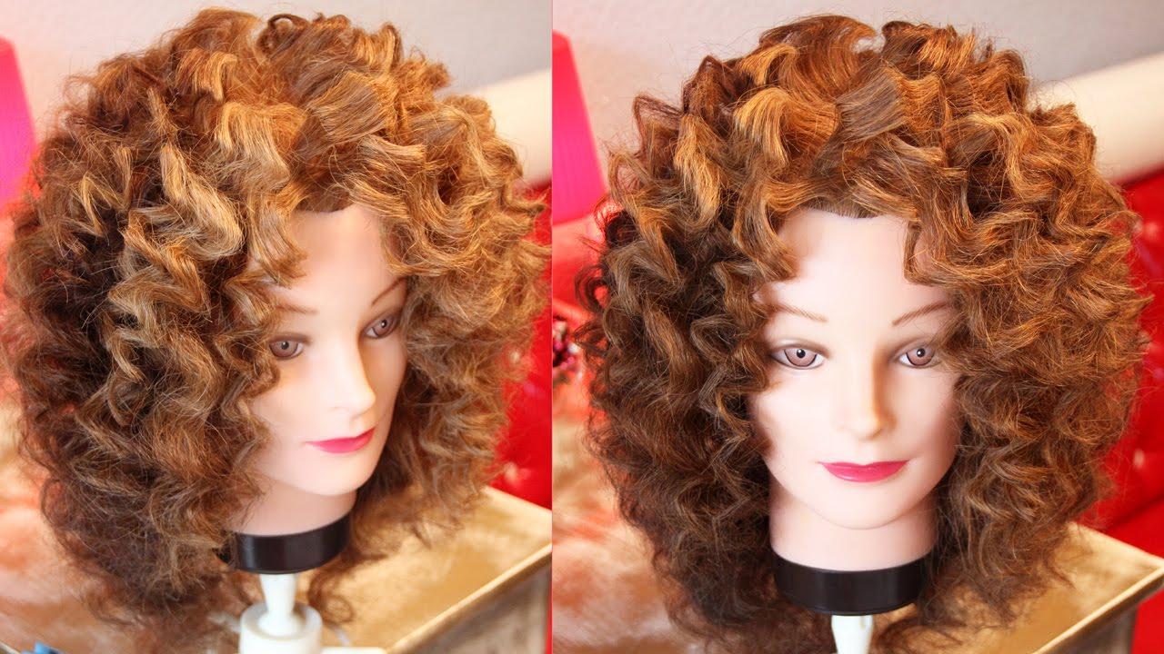 Завивка волос на утюжок на короткие волосы