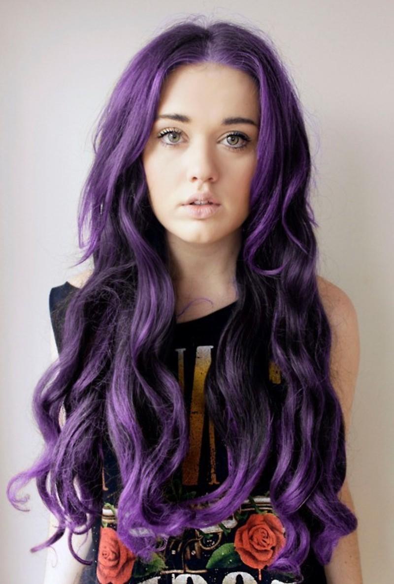 Необычные цвета волос
