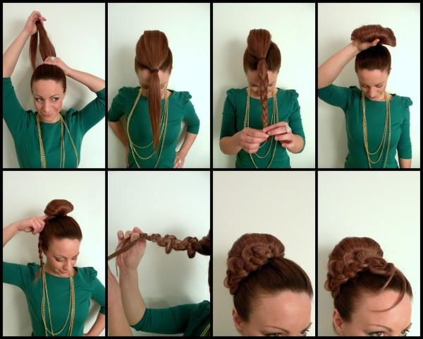 Для создания красивого пучка из волос совсем необязательно приобретать специальные накладки и прочие аксессуары