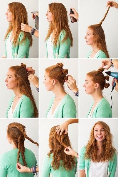 Волосы со жгутиками