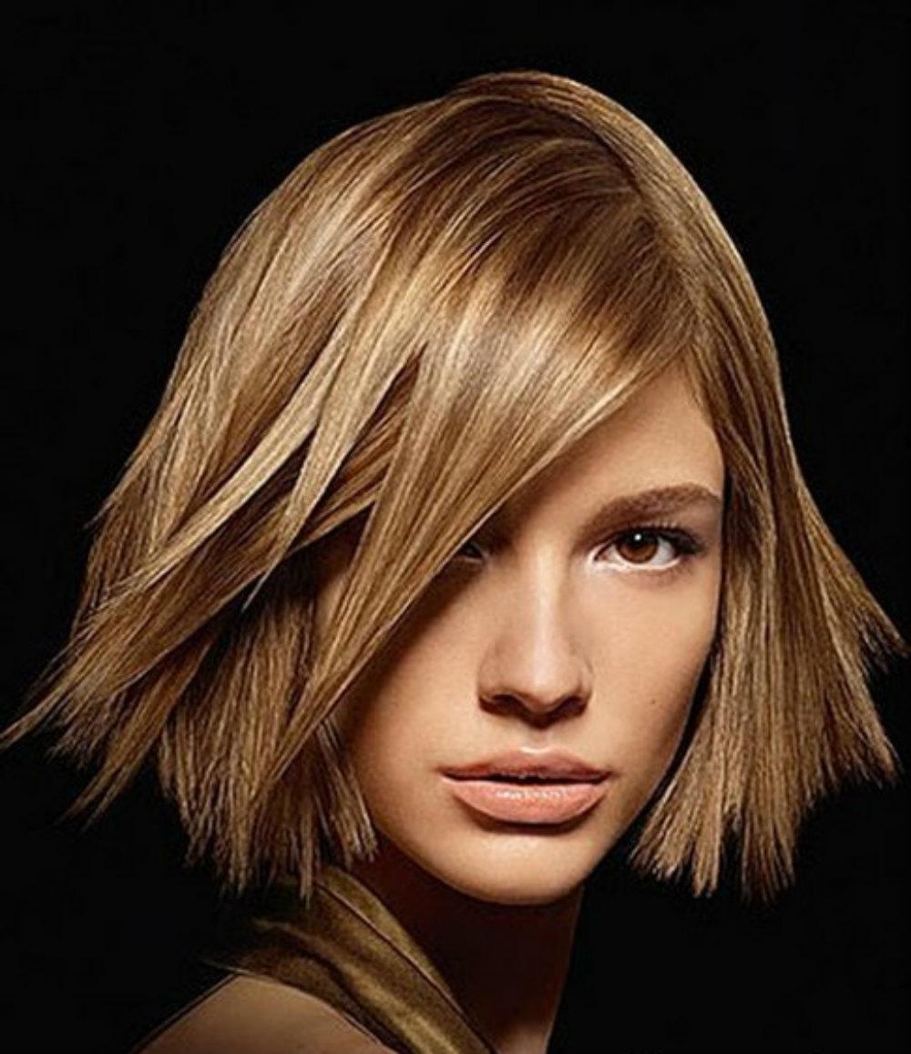 прически и цвета волос на средние волосы