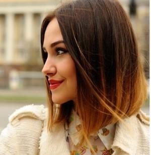 Омбре картинки на короткие волосы