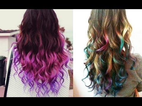 Как покрасить волосы красками для рисования