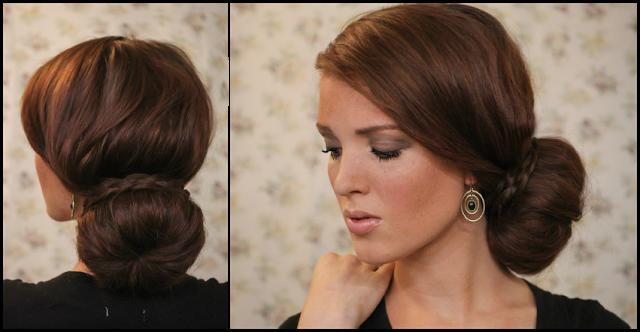 Прическа с валиком для волос видео