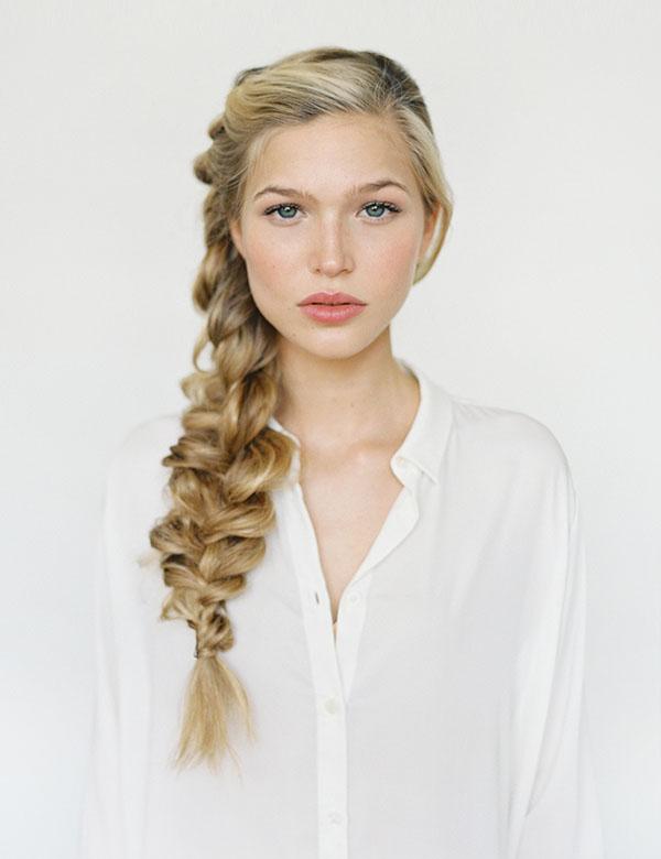 Объемная коса на длинные волосы своими руками