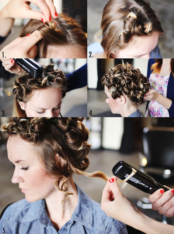 прически как правильно накрутить средние волосы