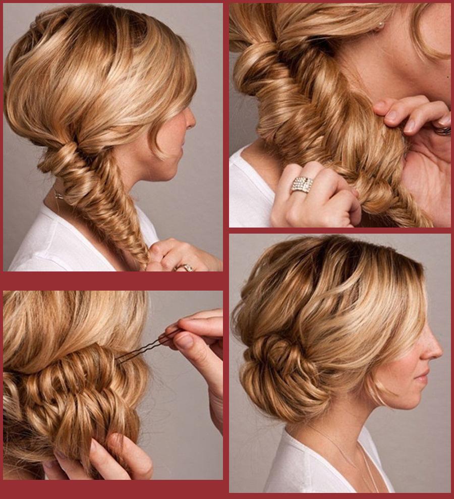 инструкция по плитению волос на коротких волосах