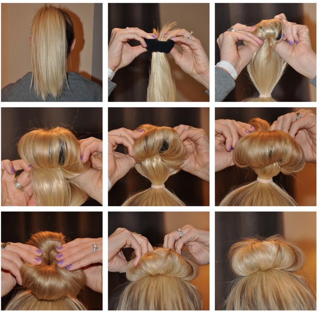 Как делать шишку на голове