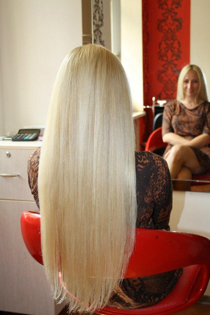Нарощенные волосы длинные