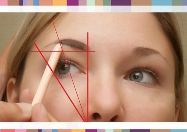 Этап 1 – разметка формы брови