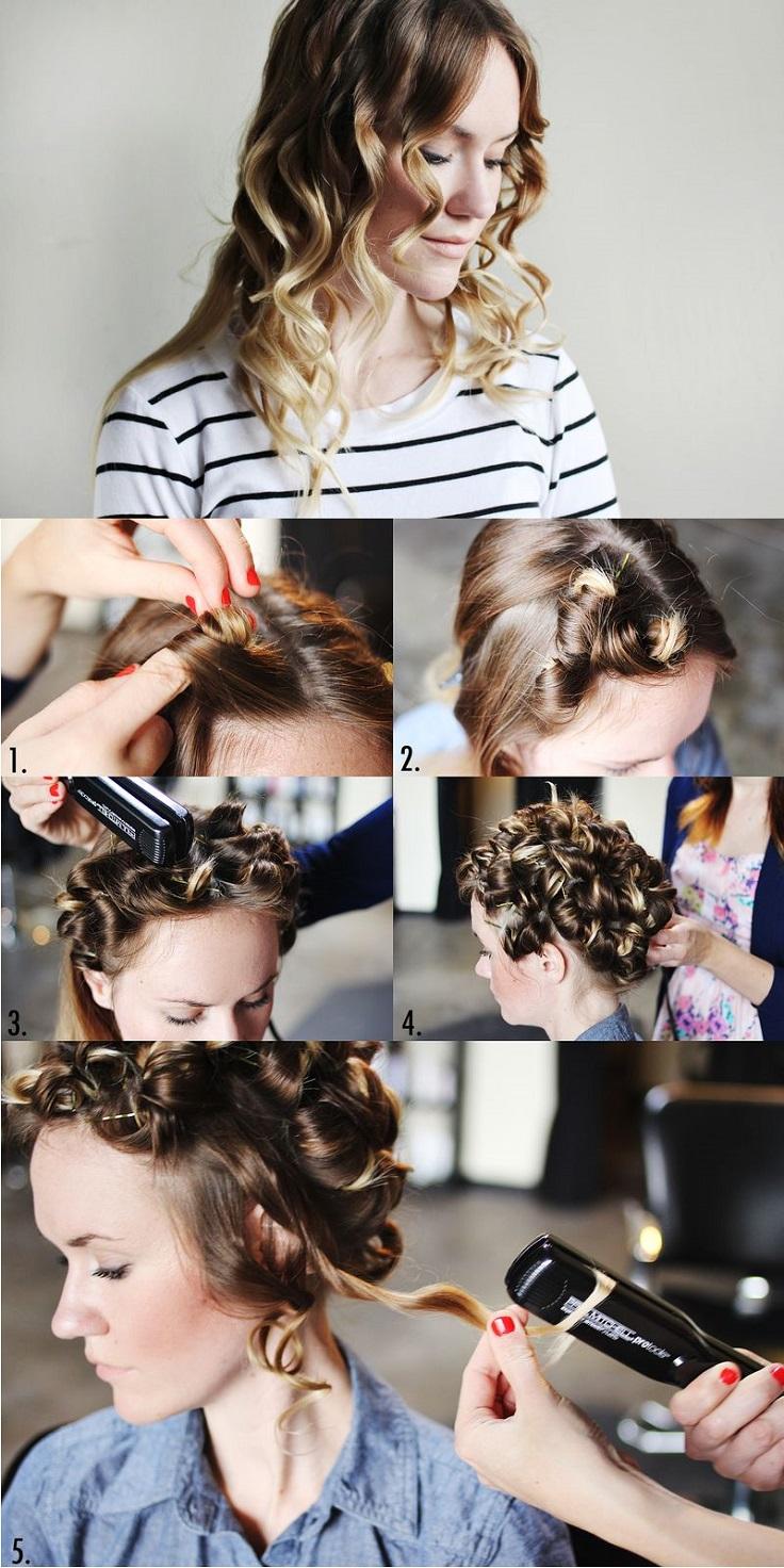 Как сделать укладку на средние волосы пошаговое фото