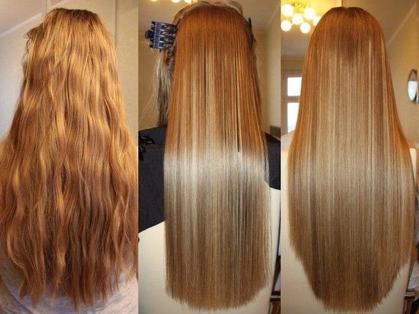 Выпрямление волос кератином видео