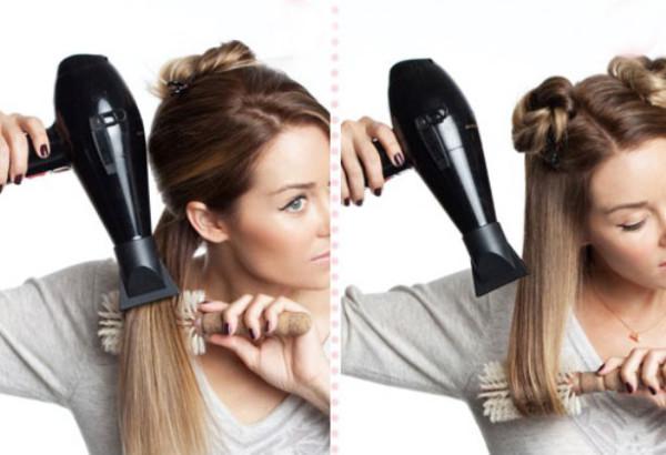 Фен используется не только для сушки, но и для укладки волос