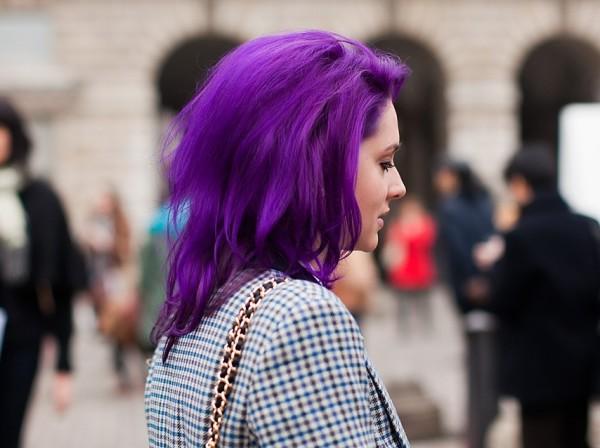 Фиолетовый - от голливудских звезд в массы