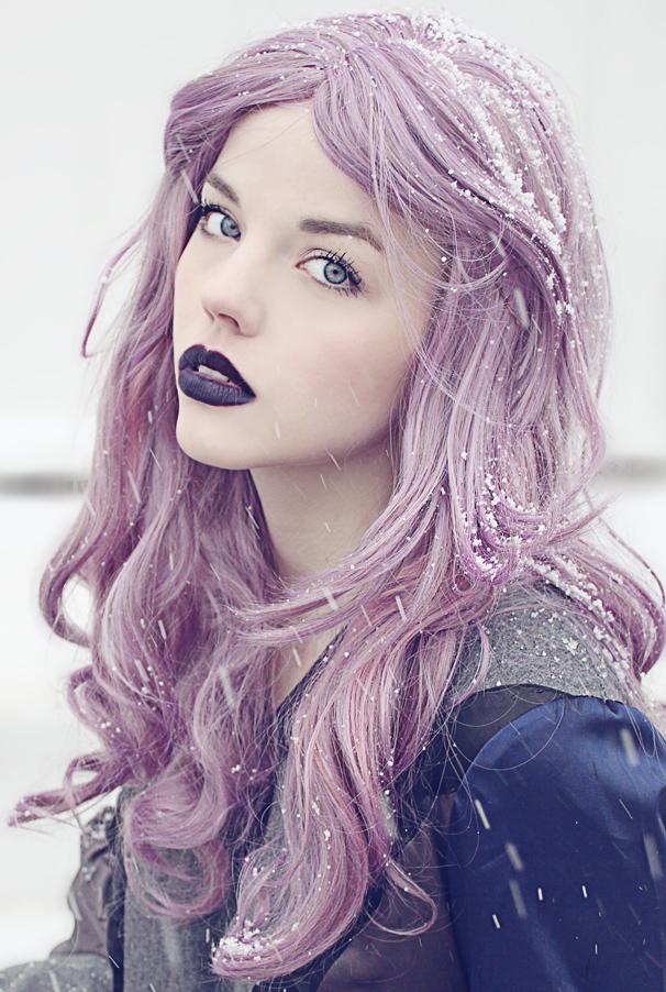 Цвет волос светло-фиолетовый