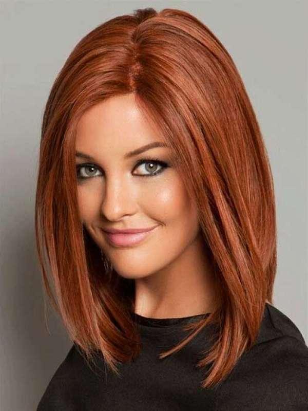 Прически цвет на средние волосы фото