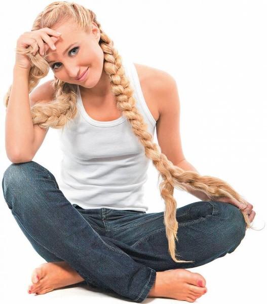 Фото длинных заплетенных волос