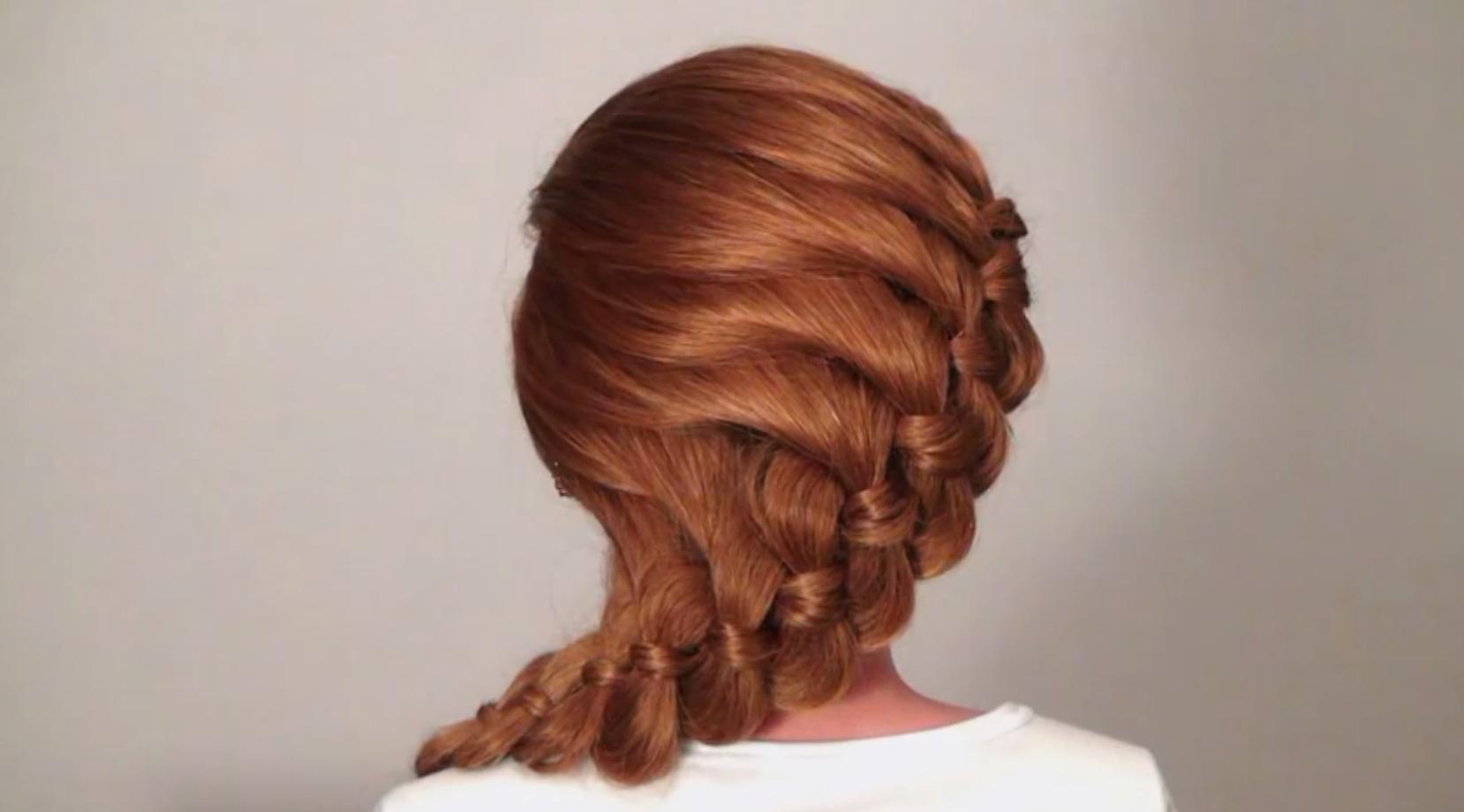 Коса из четырех прядей схема фото