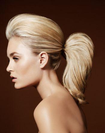 Фото хвоста на коротких волосах