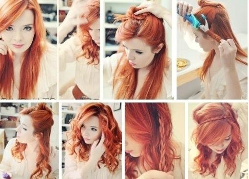Фото-инструкция: как сделать прическу из накрученных волос - легко и быстро.