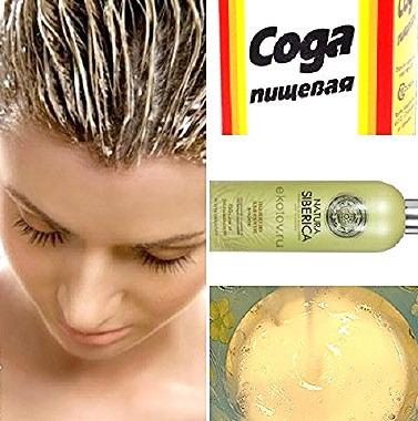 Сода для смягчения воды для волос