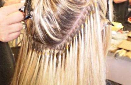 Укладка волос нарощенных