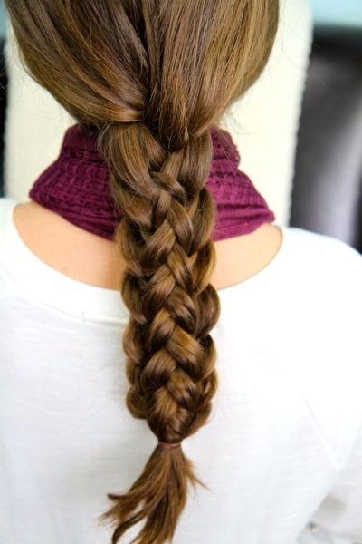 Фото объемной косы