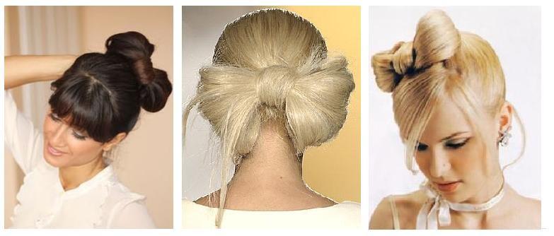 Как сделать себе бантик из волос видео инструкция