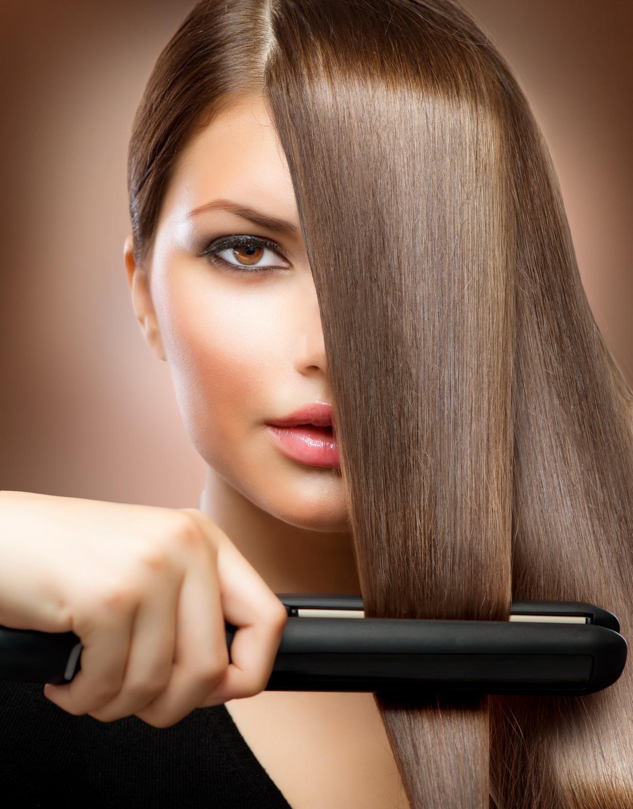 Гладкие волосы в домашних условиях фото