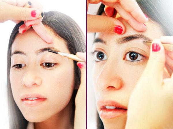 Фото проведения коррекции волосков