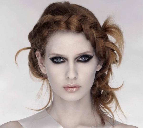 Фото роскошной французской косы наоборот