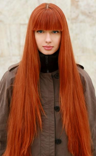 Яркий рыжий цвет волос