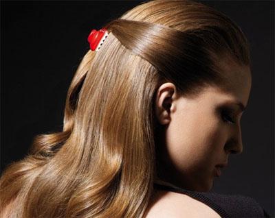 Как зацепить крабик на волосы